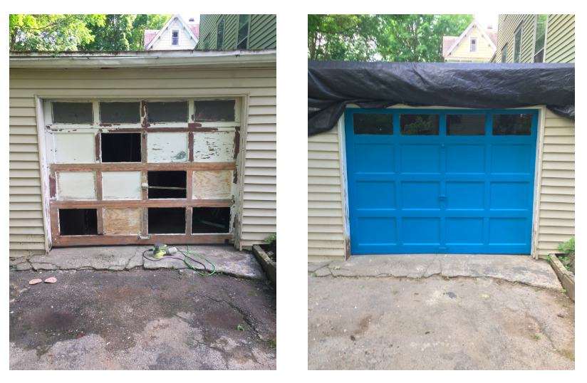 Garage Door, Before and After